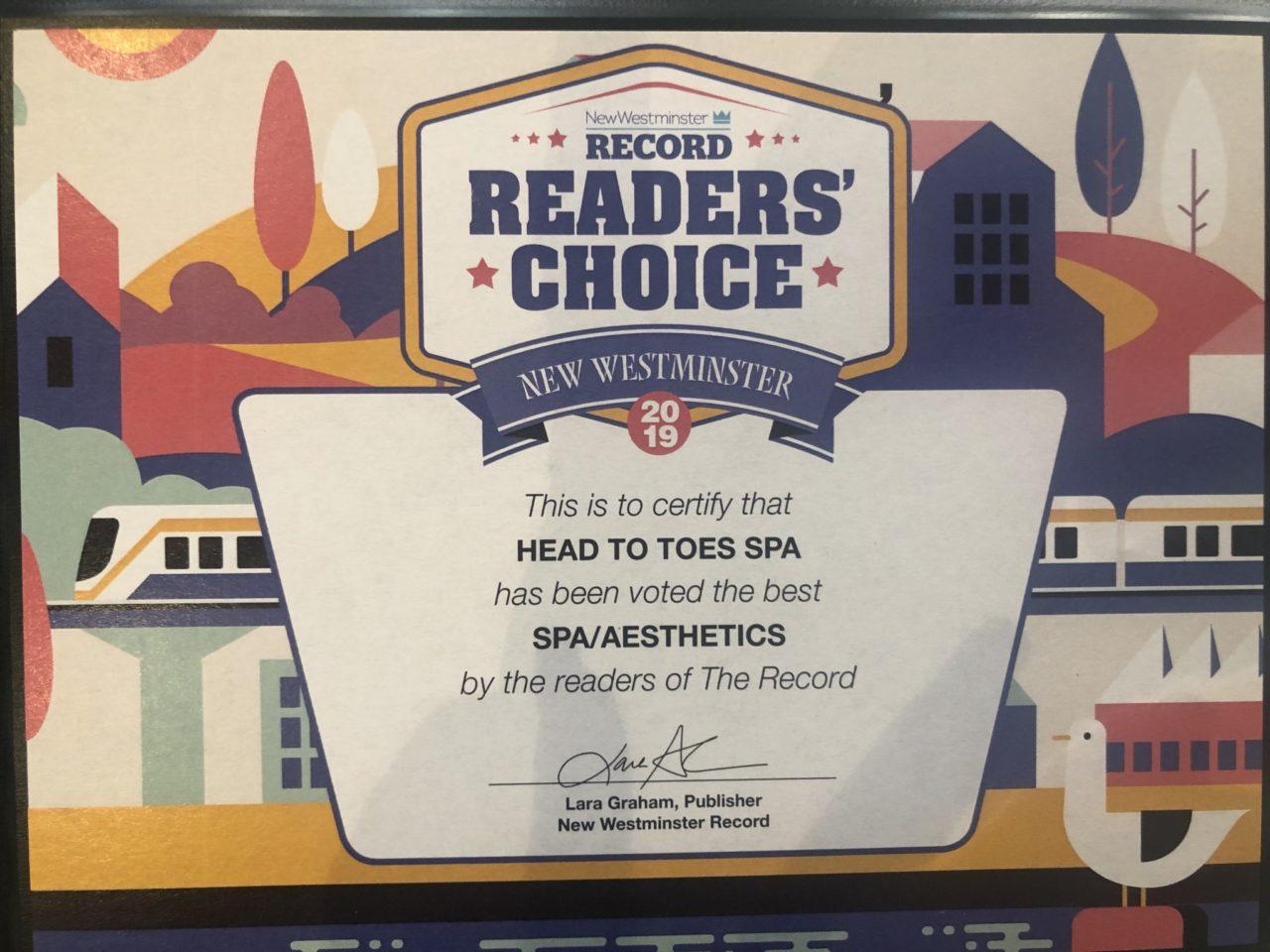 readers choice award 2019